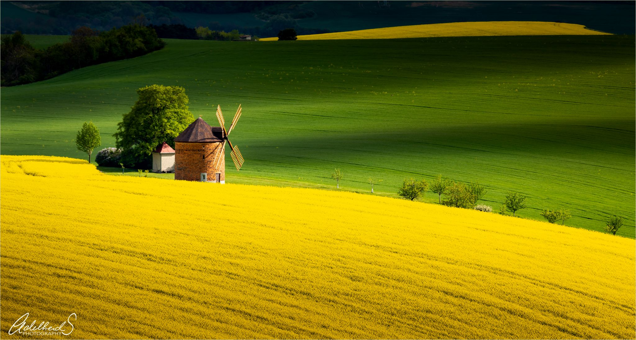 Windmill in southern Moravia, Czech Republic