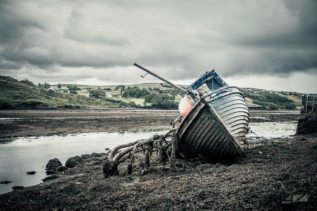 Abandoned fishing boat, Ireland