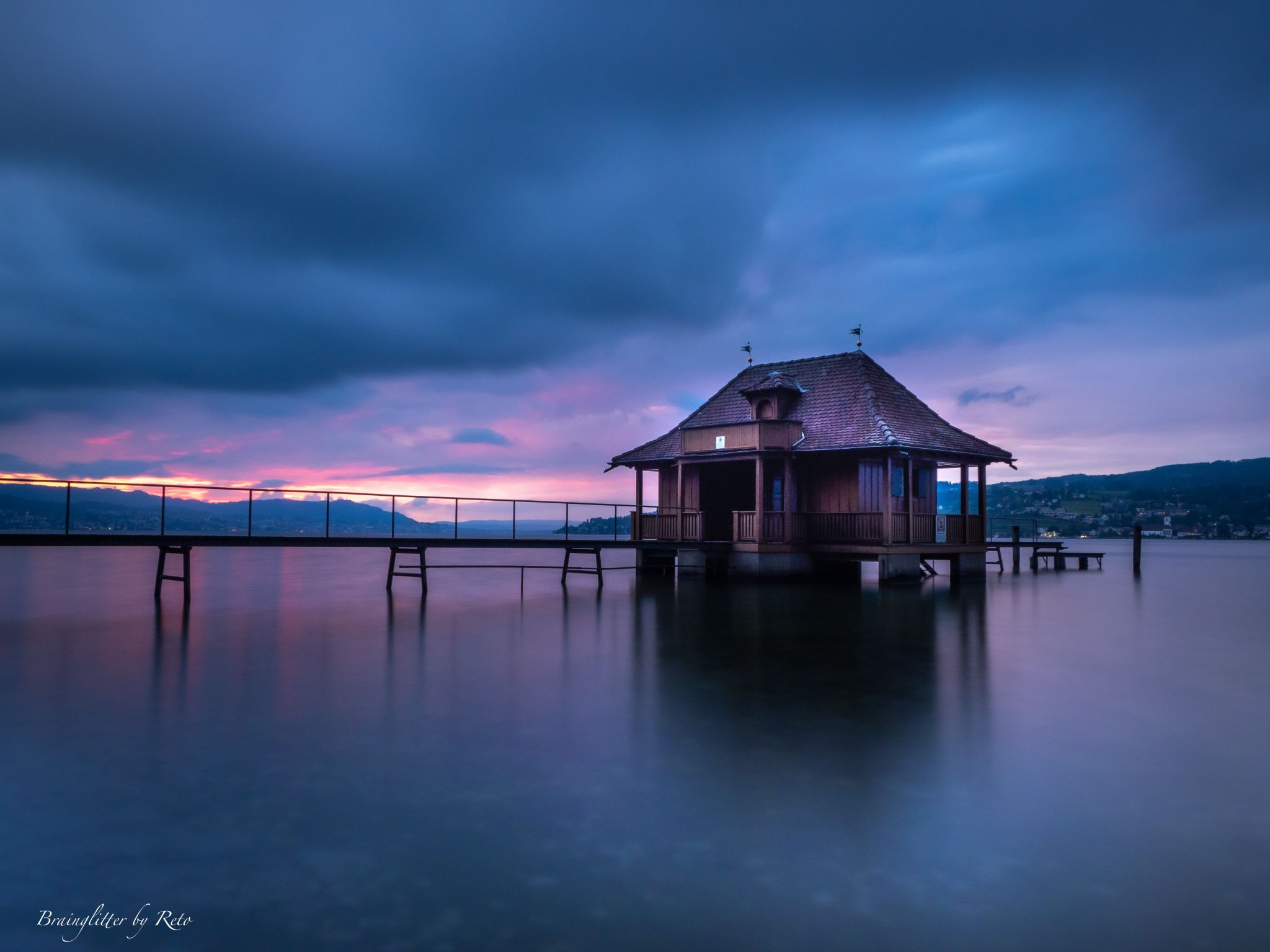 Bathhouse lake Zurich, Switzerland
