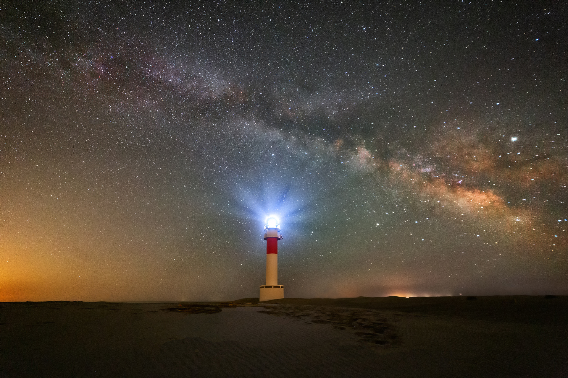 Far del Fangar - Lighthouse in Delta de Ebro, Spain
