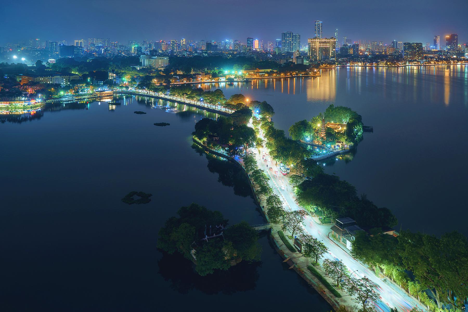 Hanoi skyline from Summit Lounge, Vietnam