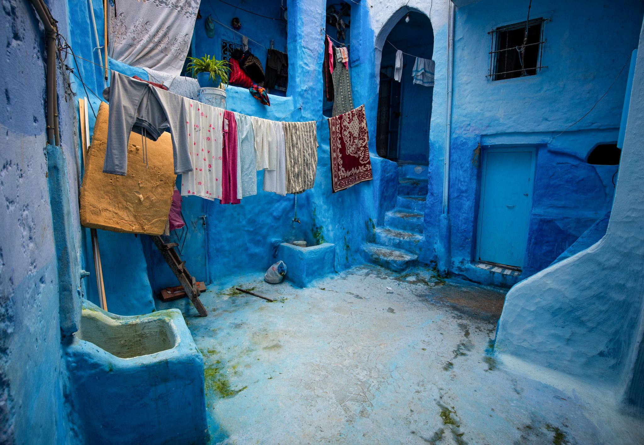 In the streets of Chefchaouen, Morocco