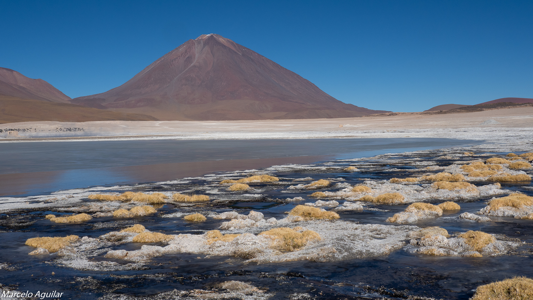 Laguna Blanaca and Licancabur volcano, Bolivia