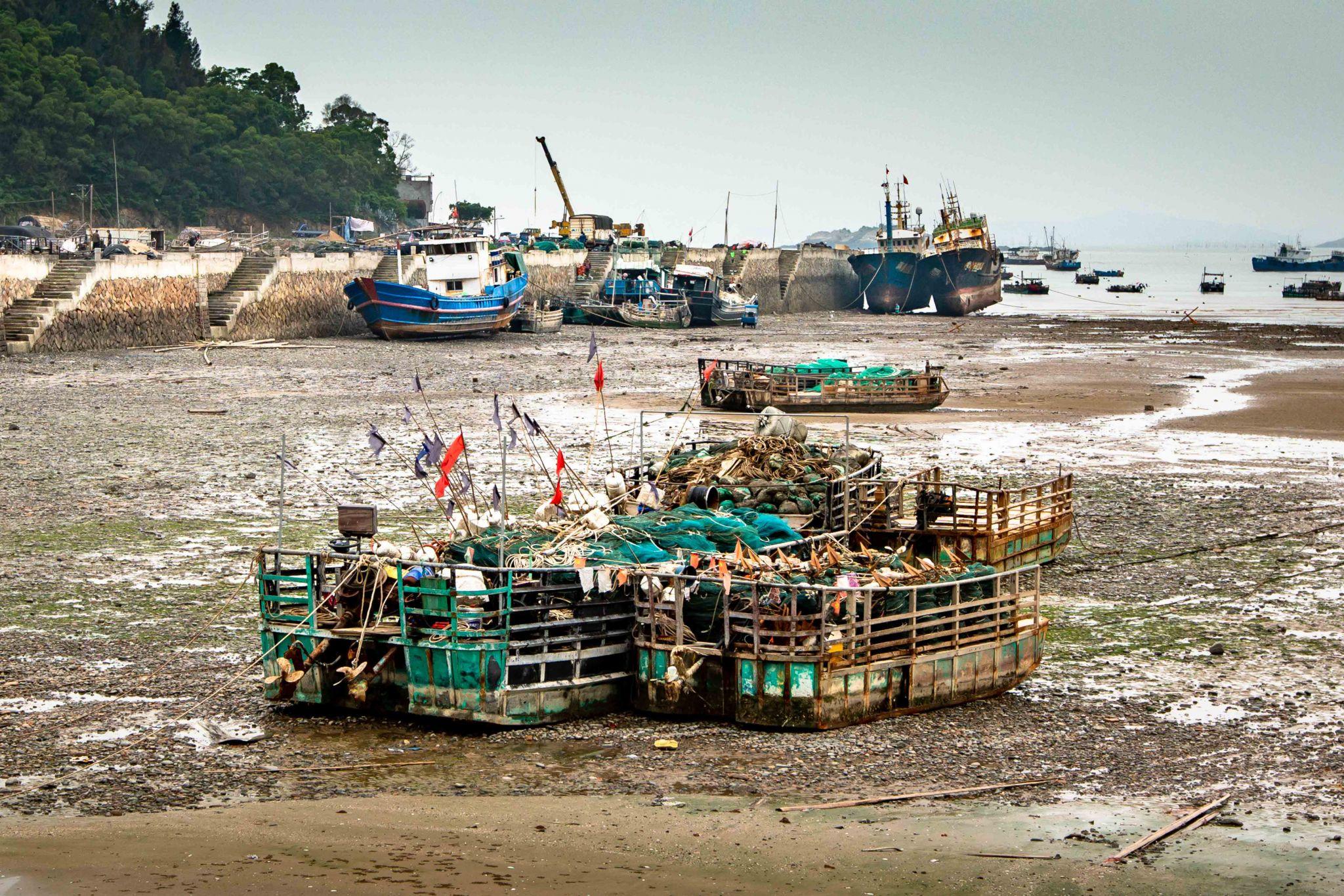 Low tide at xiaohaocun Xiapu, China