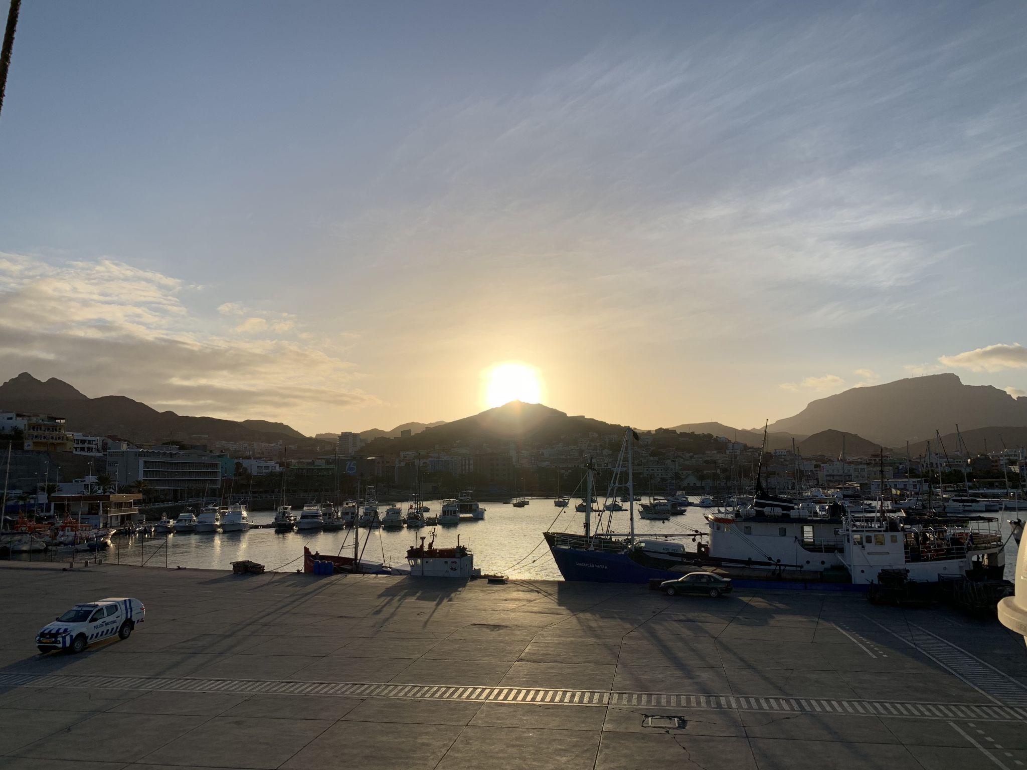 Mindelo harbor, Cape Verde