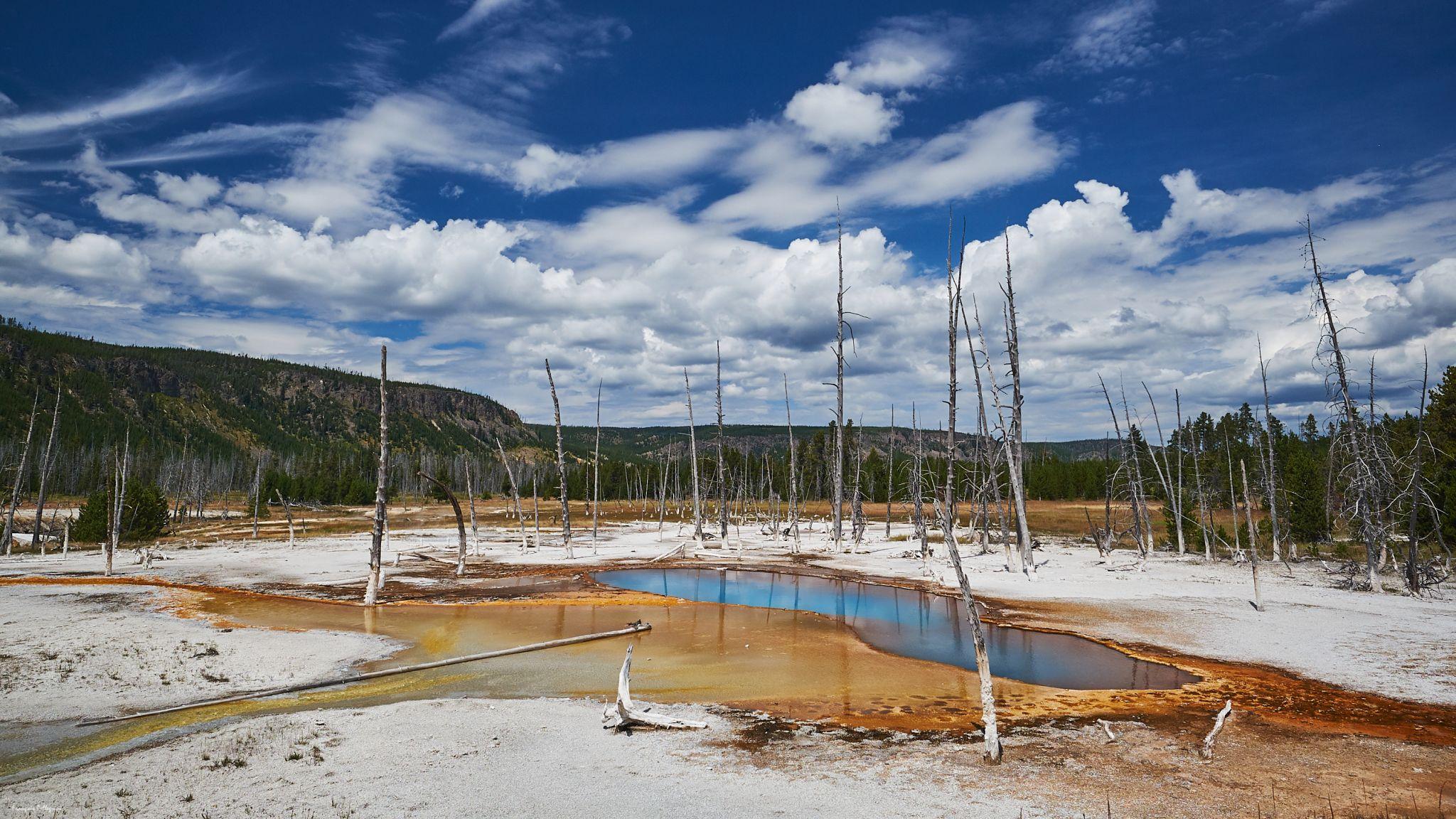 Opalescent Pool (Black Sand Basin), Yellowstone, USA