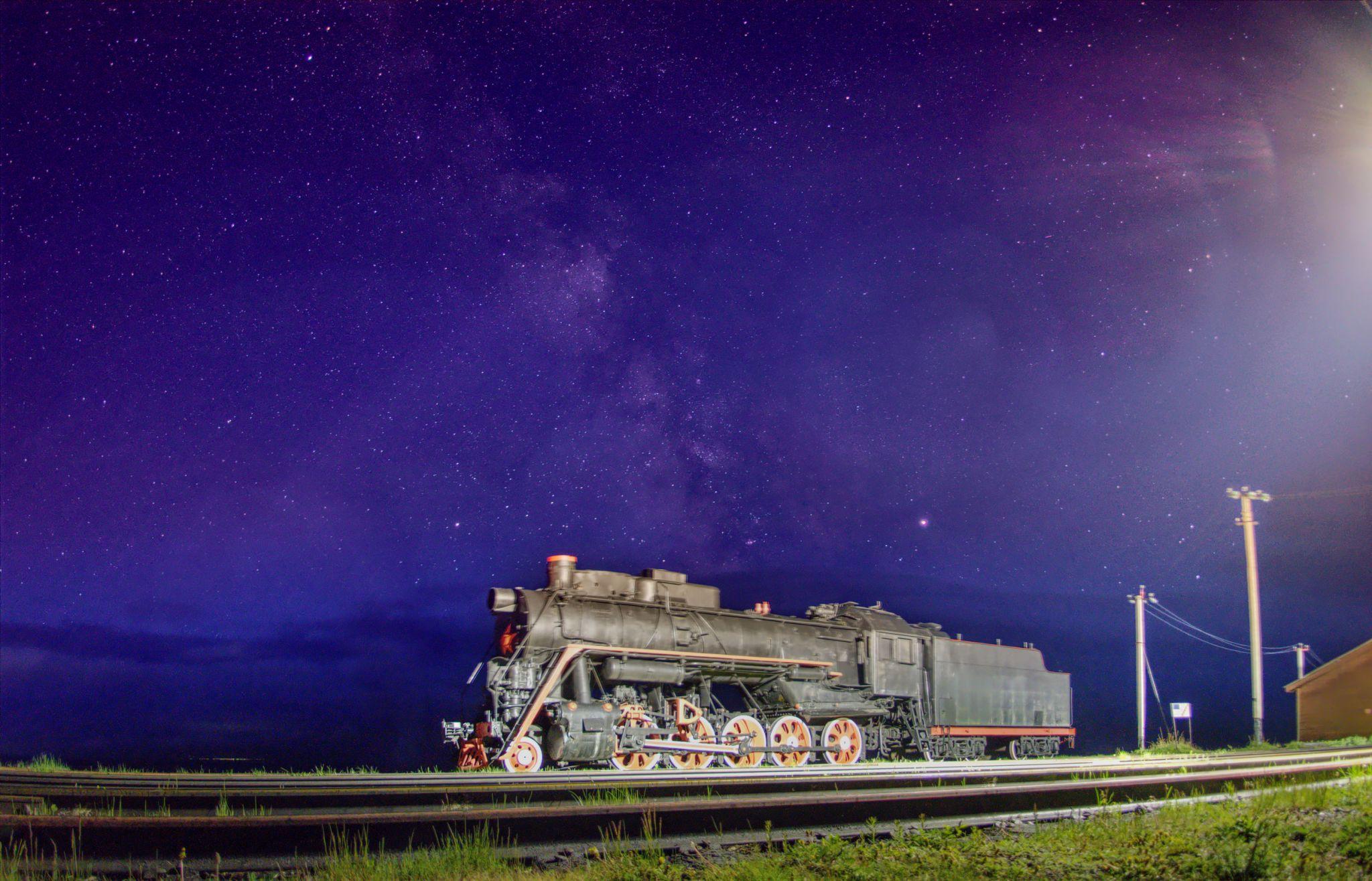 Port Baikal - Steam powered locomotive, Russian Federation