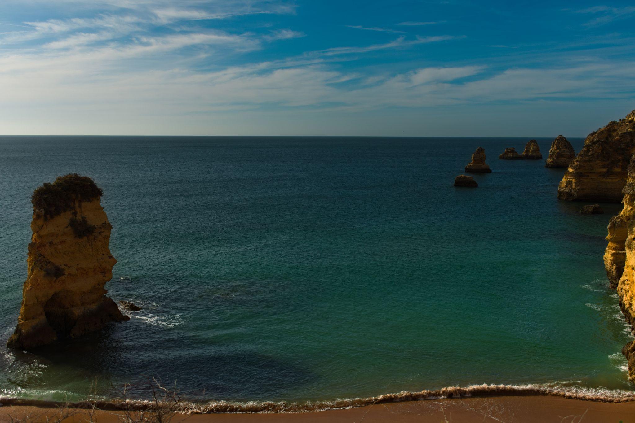 Praia Dona ANA , Top view, Portugal