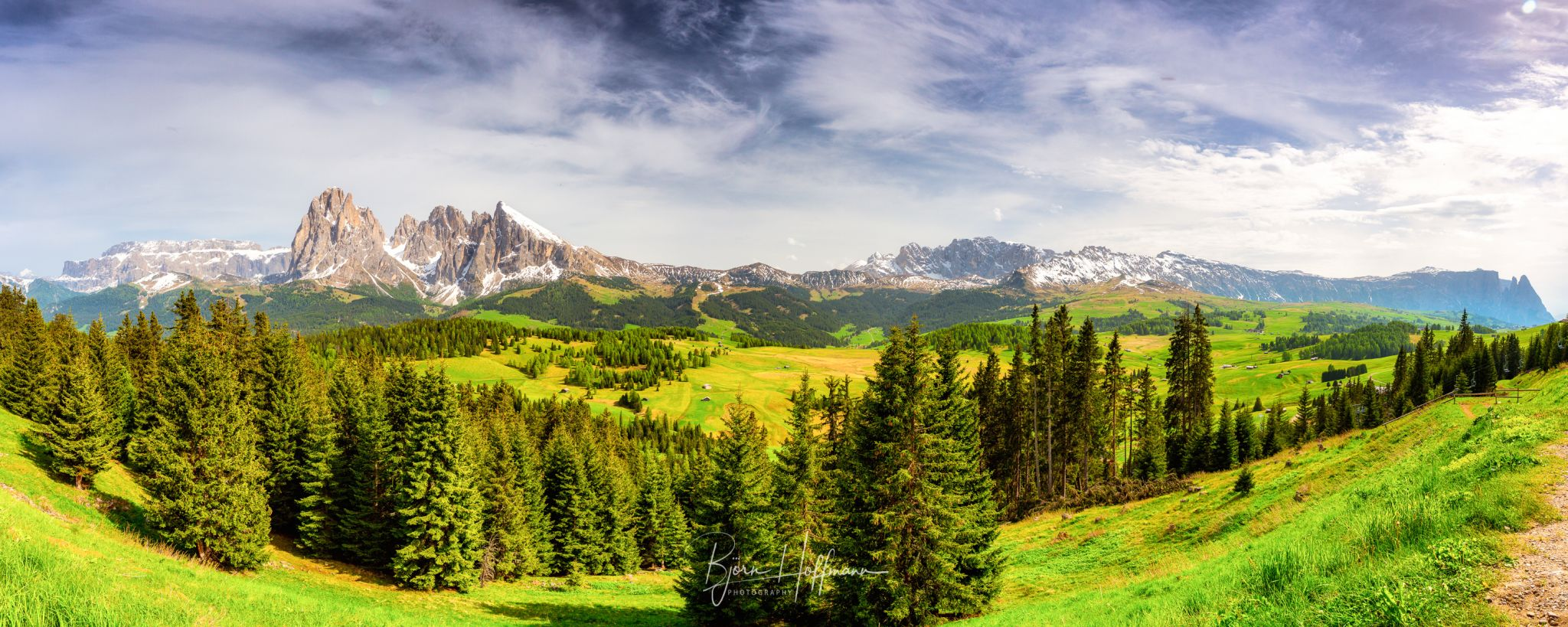 Seiser Alm / Alpe di Siusi, View from cable car station, Italy
