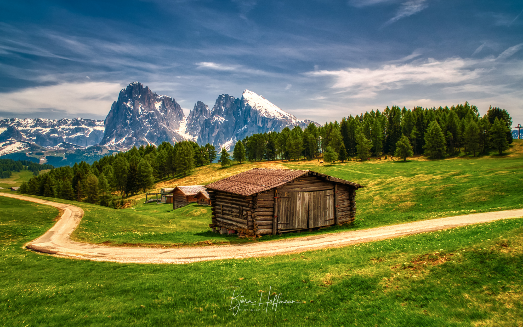 Seiser Alm, cabin panoramic, Italy