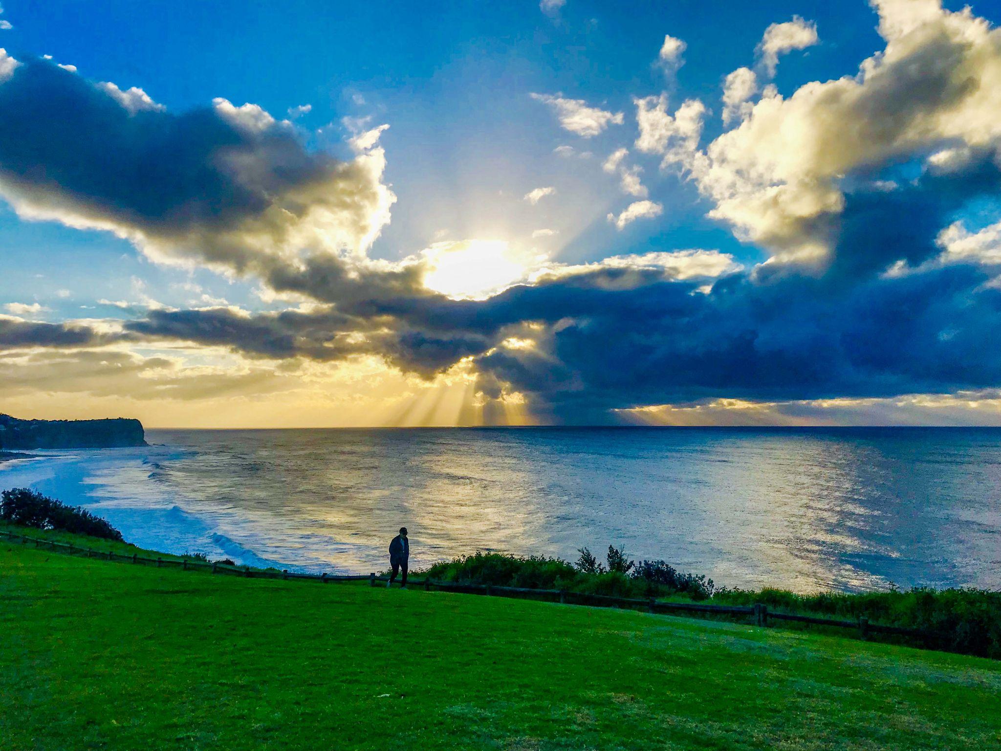 Warriewood looking back to Mona Vale Sunrise Sydney, Australia