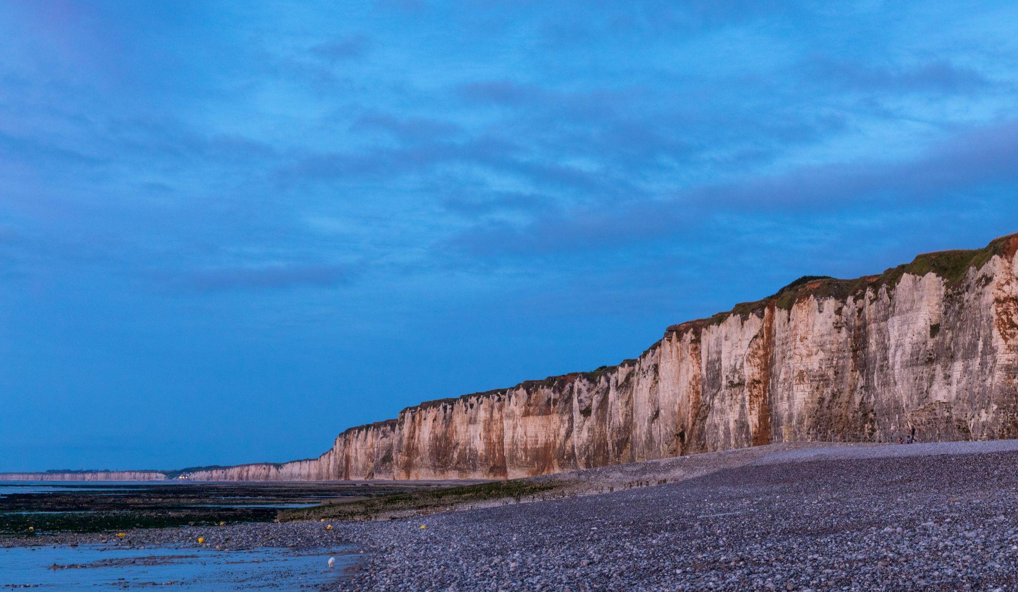 Abendstimmung an der Steilküste bei Saint-Valery-en-Caux, France