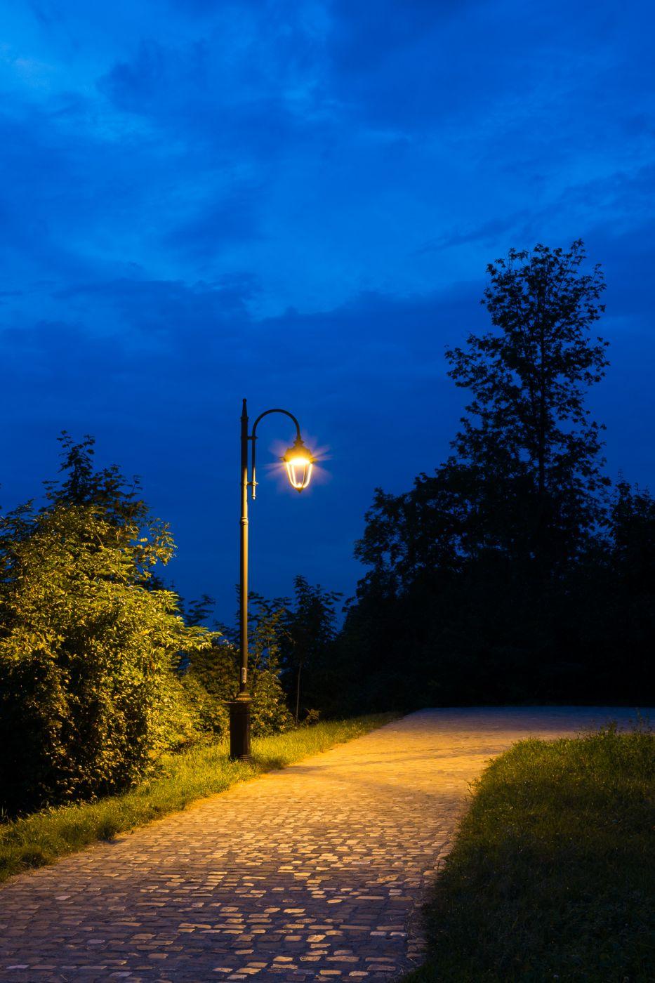 Blue hour light, Romania
