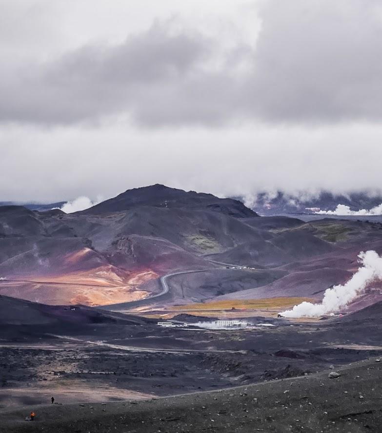 Iceland, Krafla vulcano, Iceland