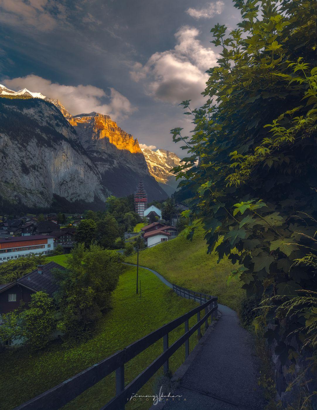 Lauterbrunnen from Fuhren View Point, Switzerland