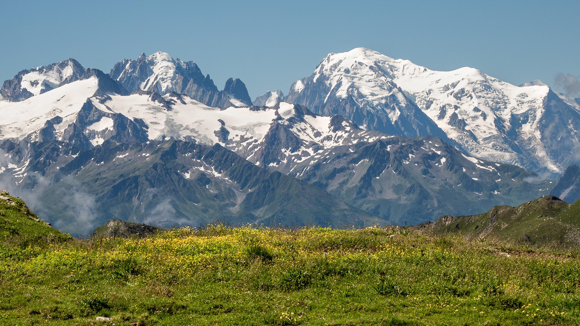 Mont Blanc from Fenestral, Switzerland