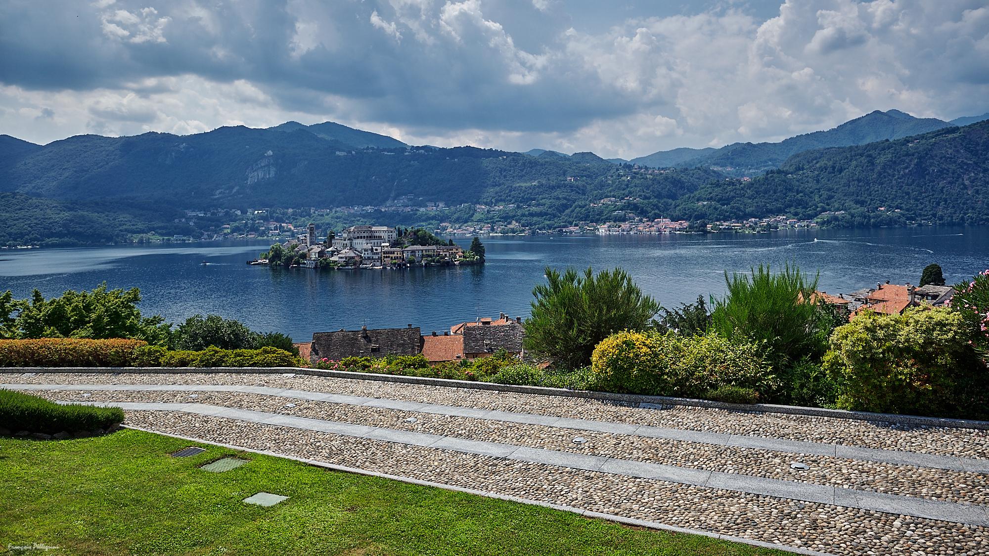 Orta Lake, from Orta San Giulio, Italy
