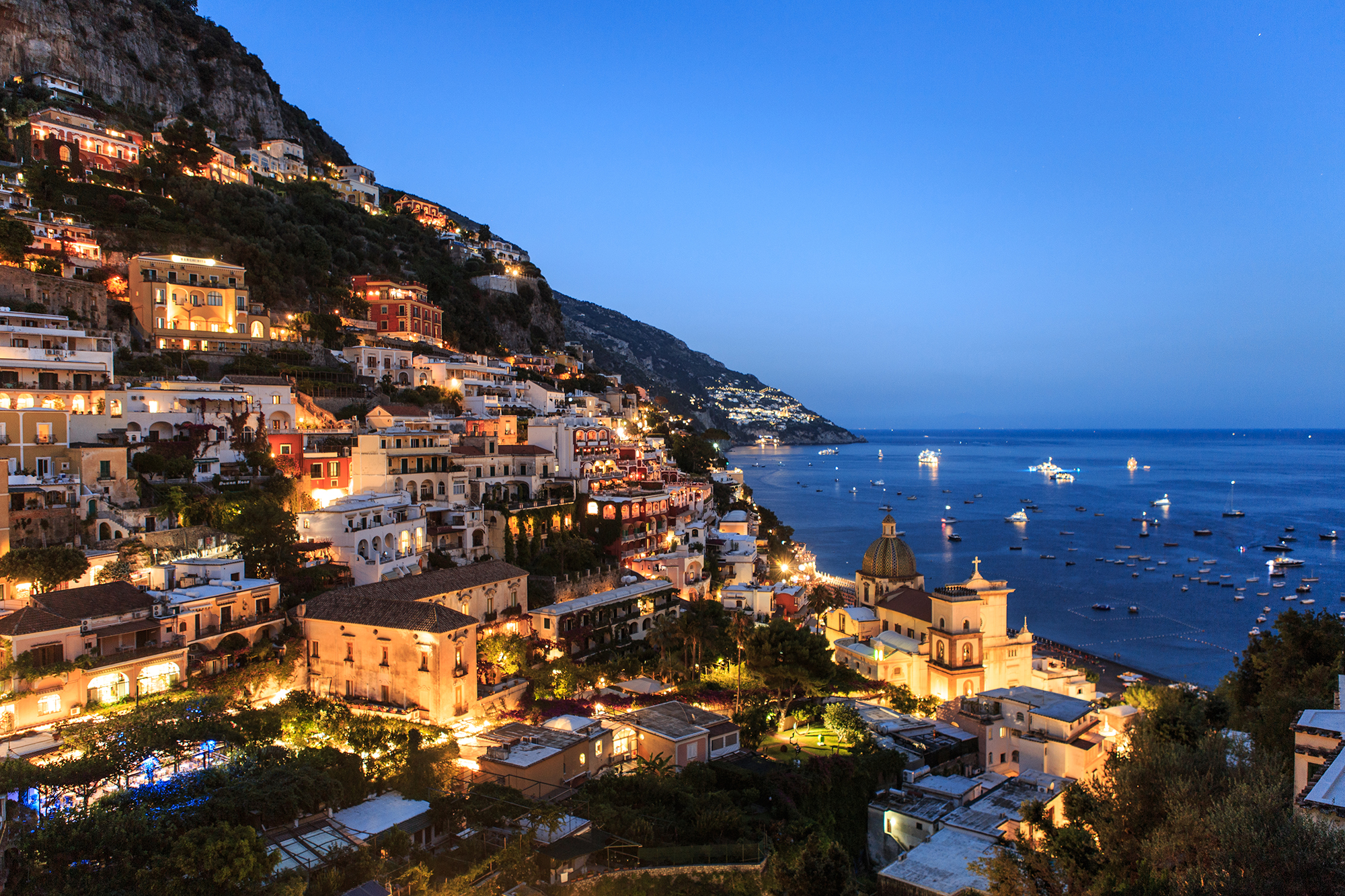 Positano at Night, Italy