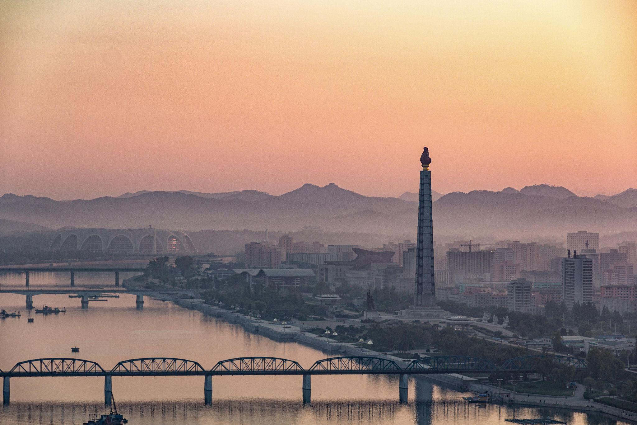 Pyongyang at sunrise, Korea