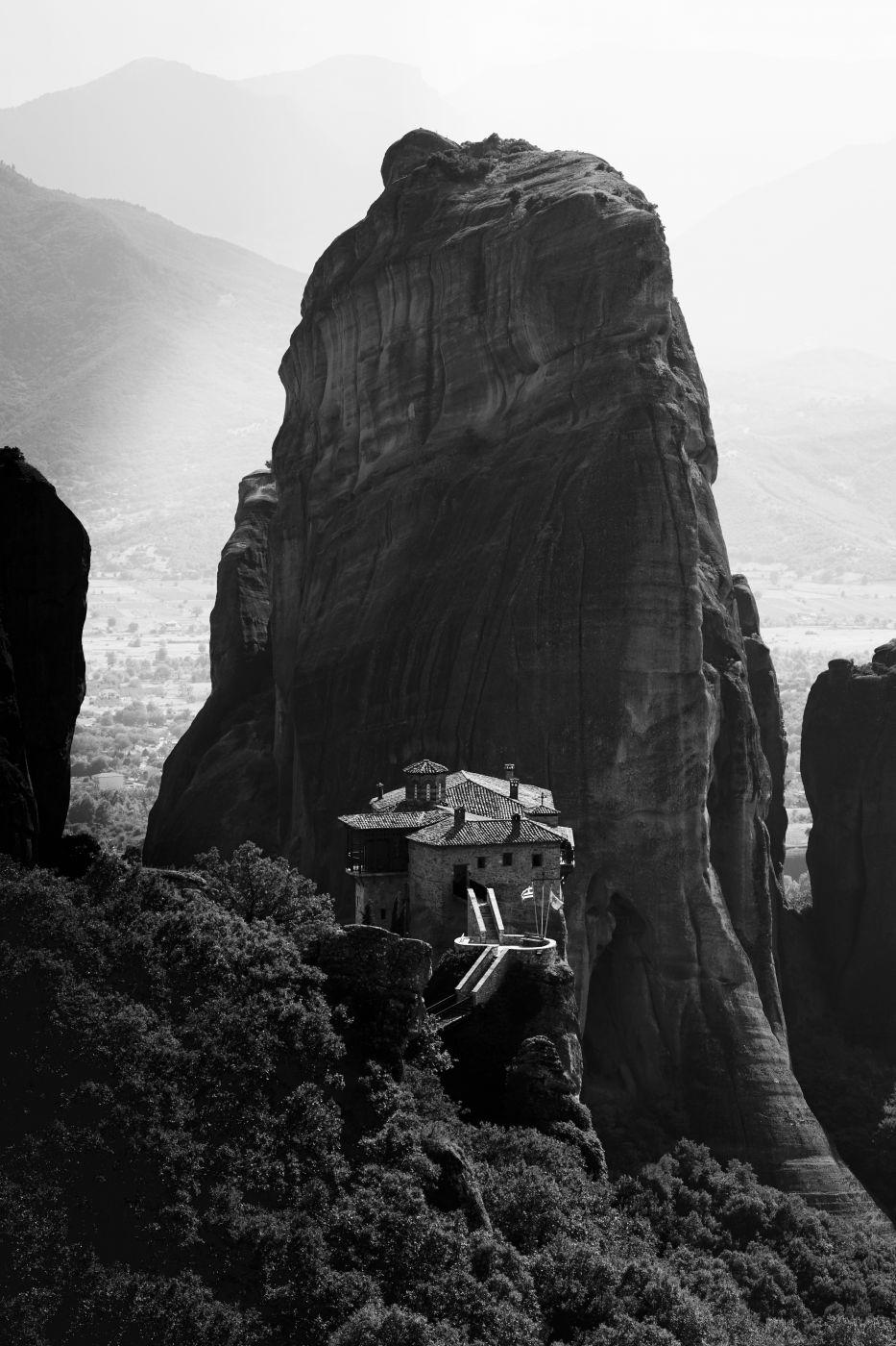 Rousanou Monastery and Mountain, Greece