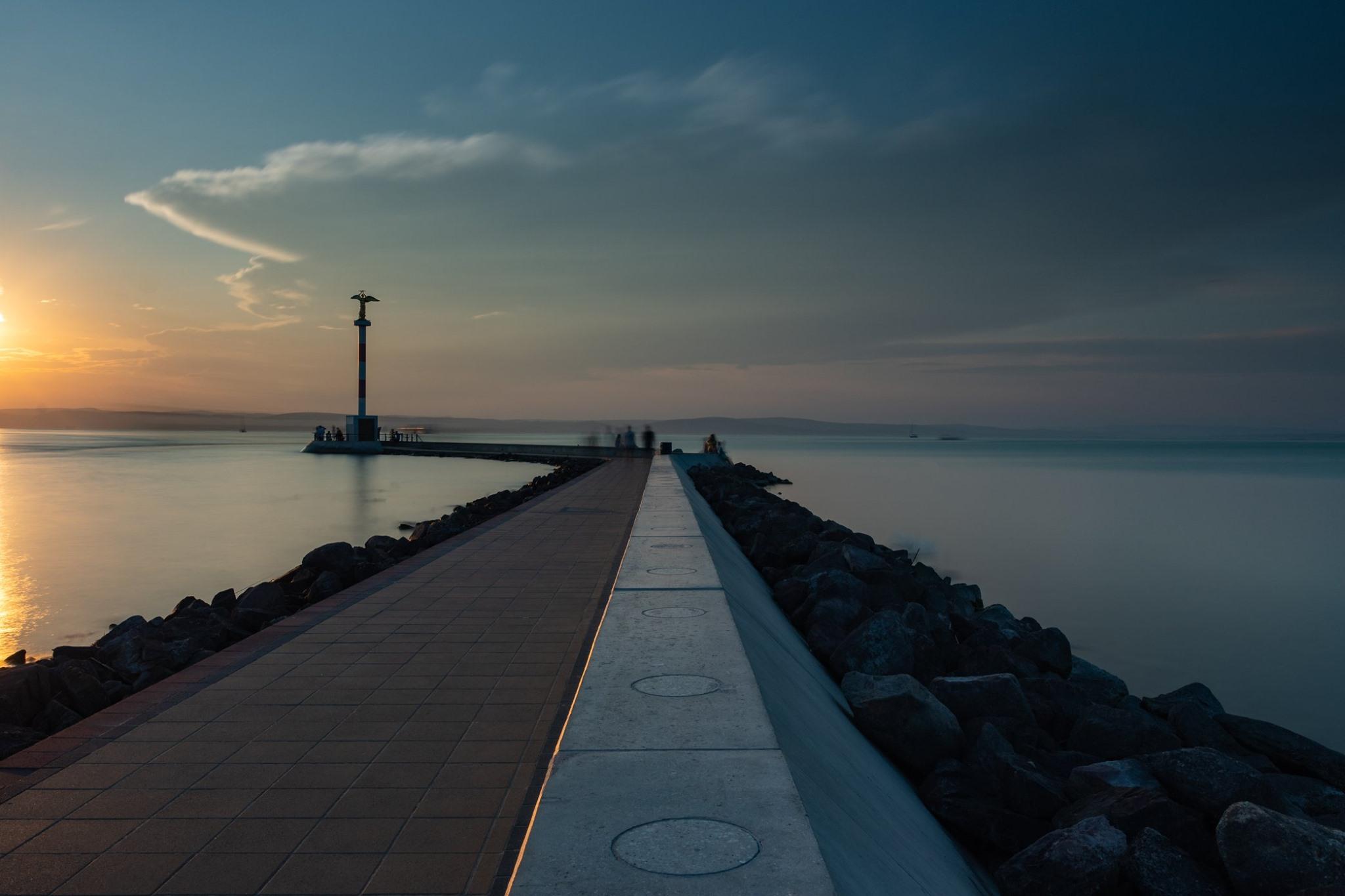 Siofok Harbor, Hungary