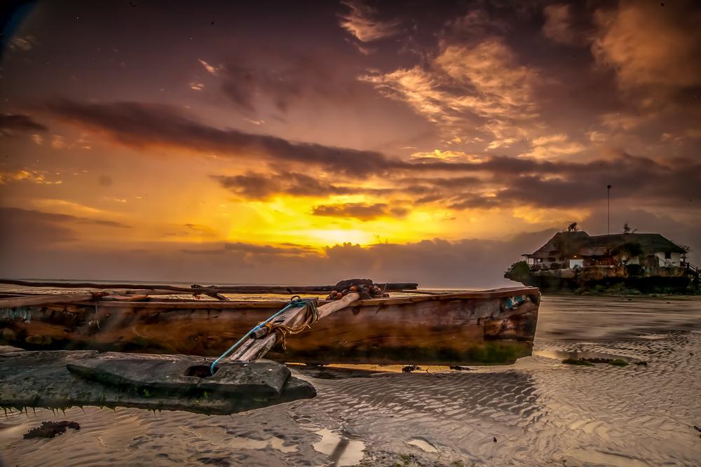 Sunrise 'The Rock Restaurant' Dongwe Zanzibar, Tanzania