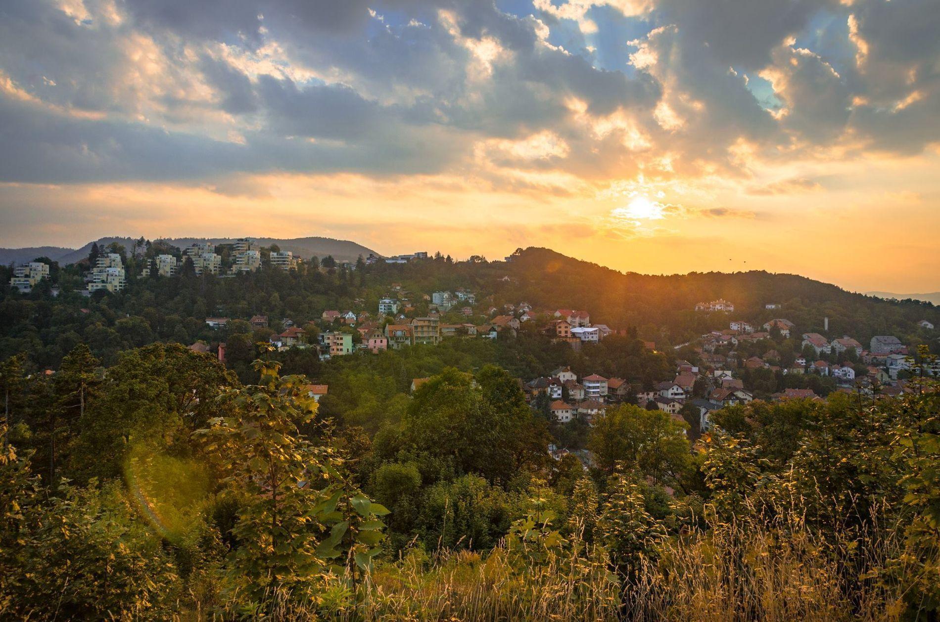 Sunset near Brasov's Fortification, Romania