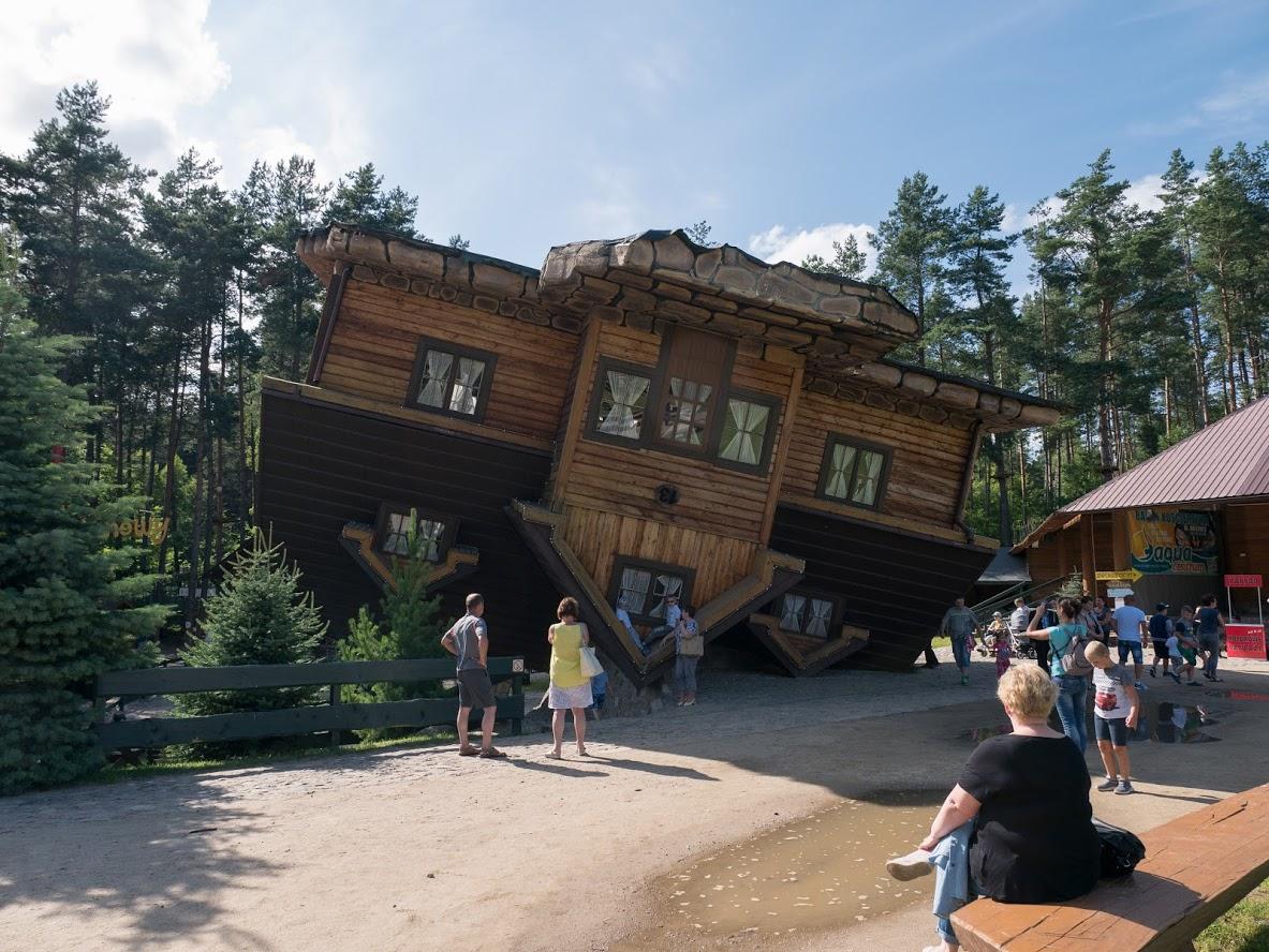 Szymbark, Upside down house, Poland