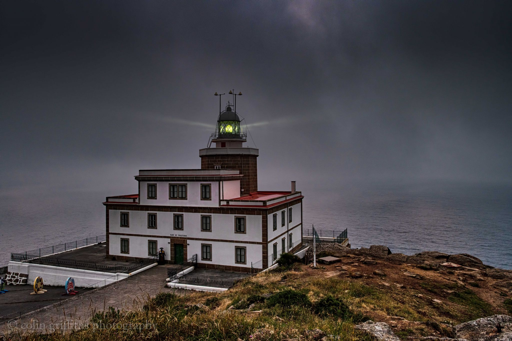 The lighthouse at Cape Finistere, Spain