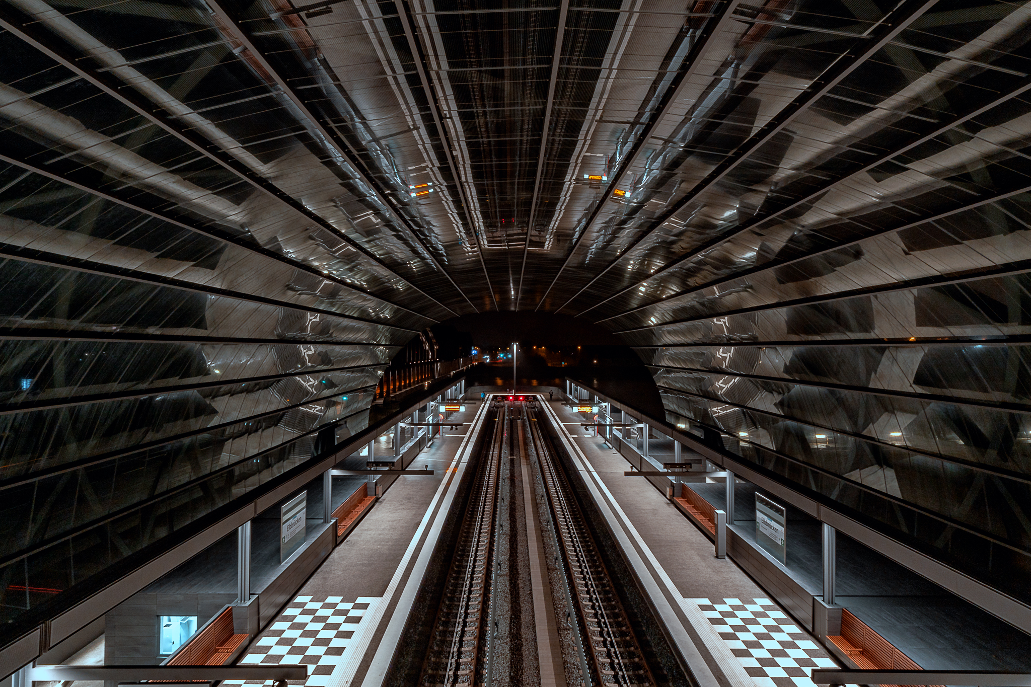 U4 Station Elbbrücken Hamburg - Hafen City, Germany