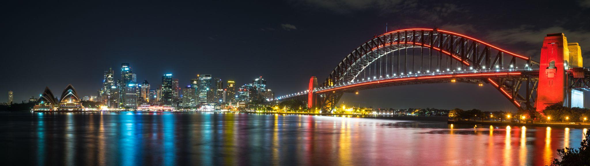View of Sydney Harbour, Bridge and Opera House, Australia