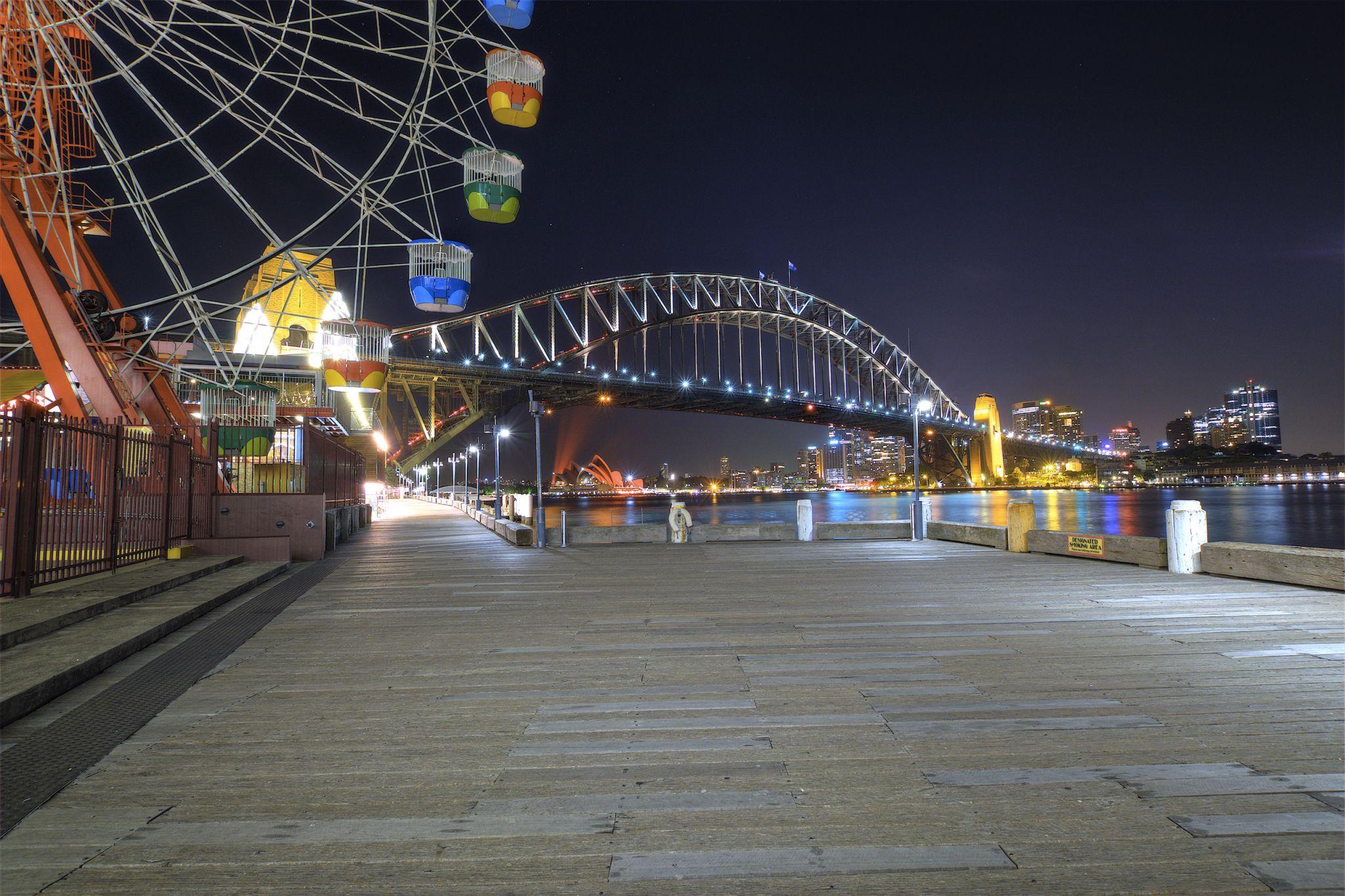 Waterfront outside Luna Park, Australia