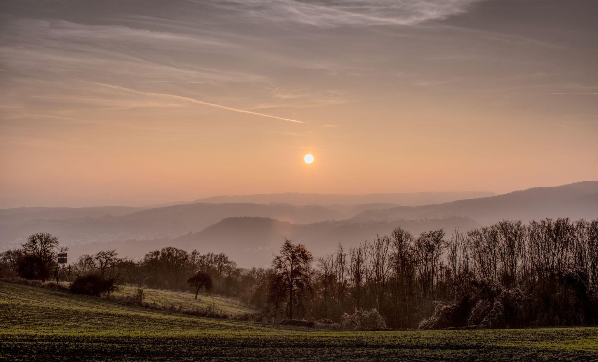 Wintermorning near Lahnstein, Germany