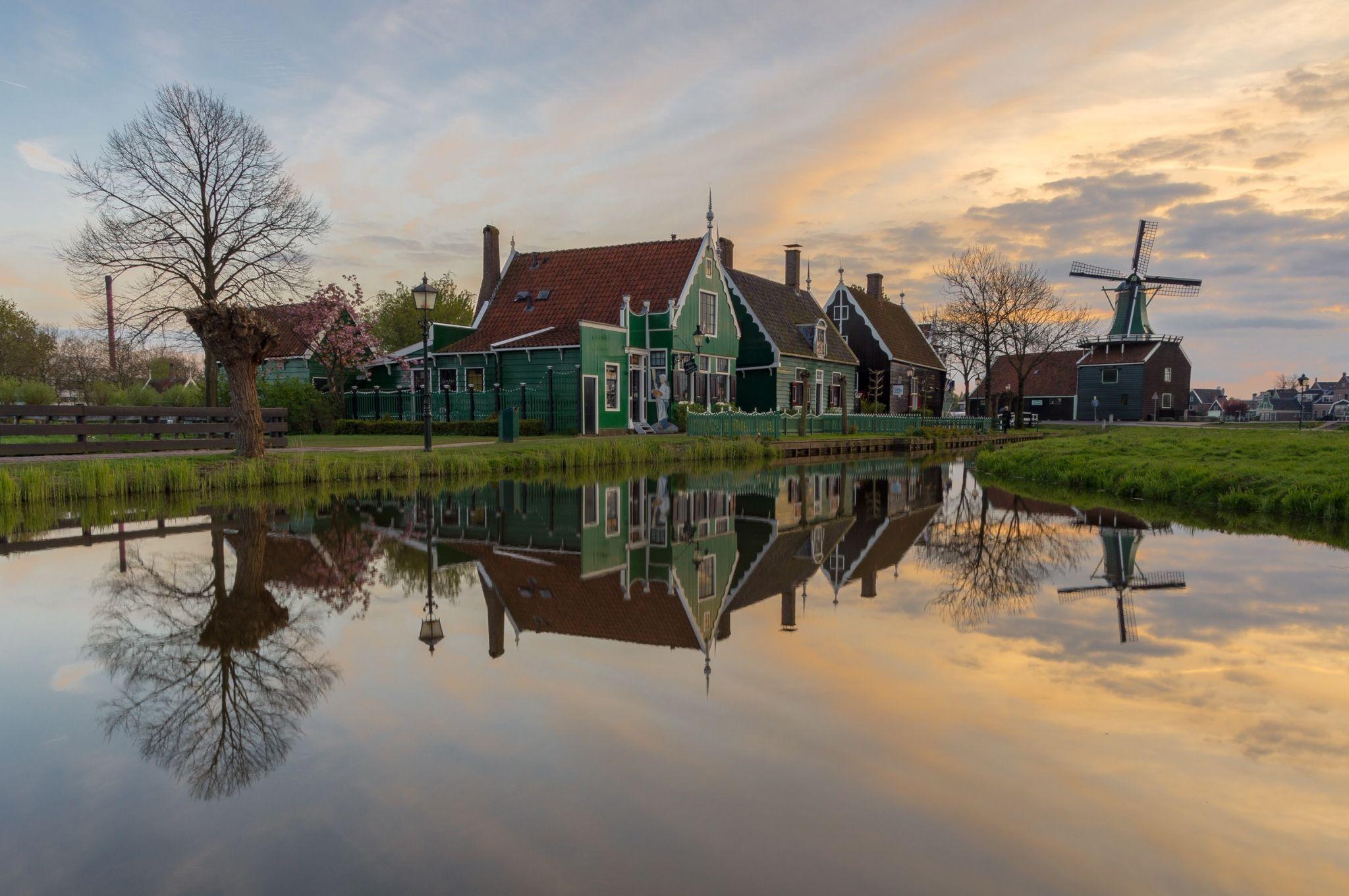 Zaanse Schans - view from the cheese farm, Netherlands