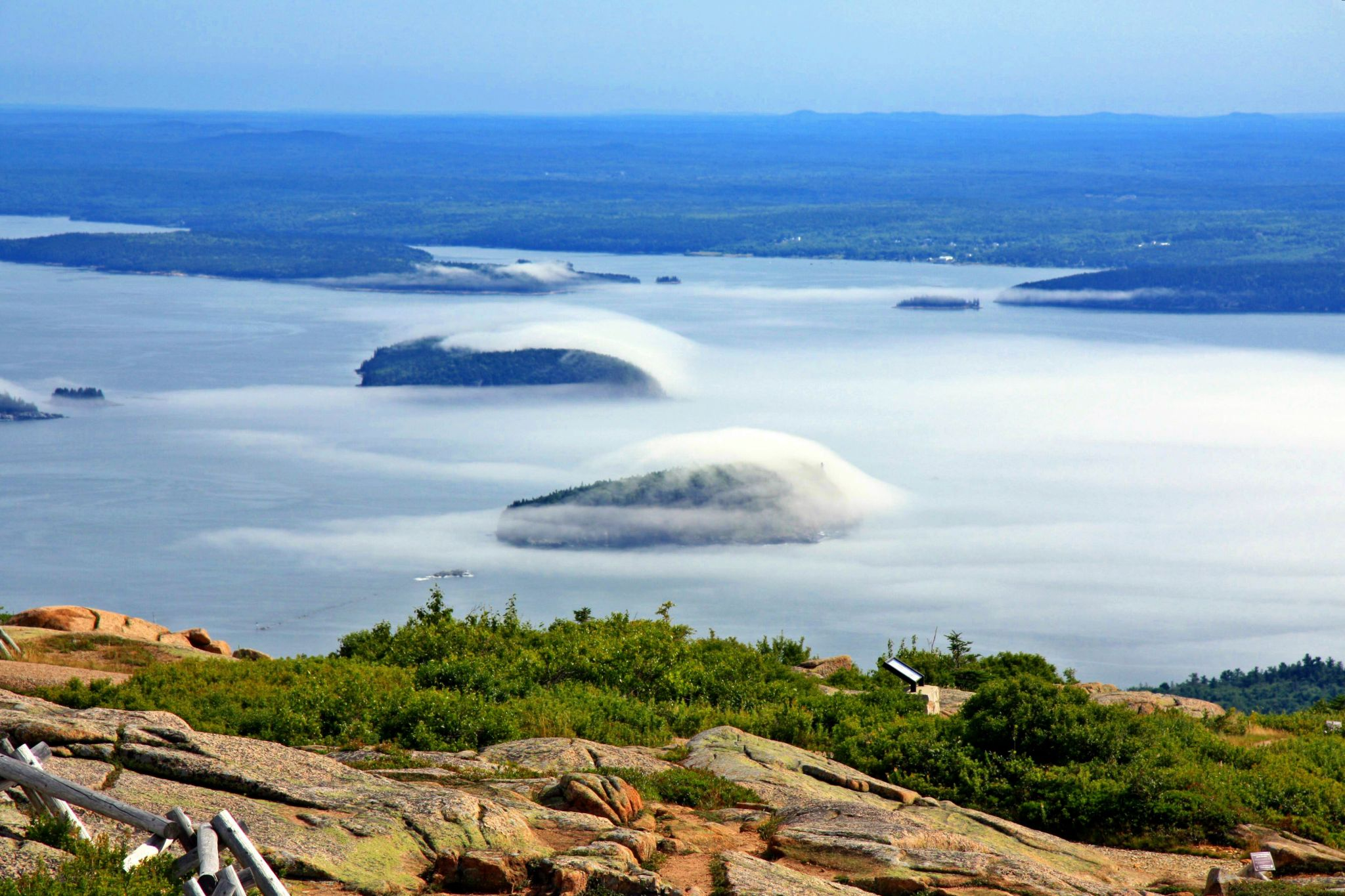 Acadia National Park, view from Cadillac Mountain, USA