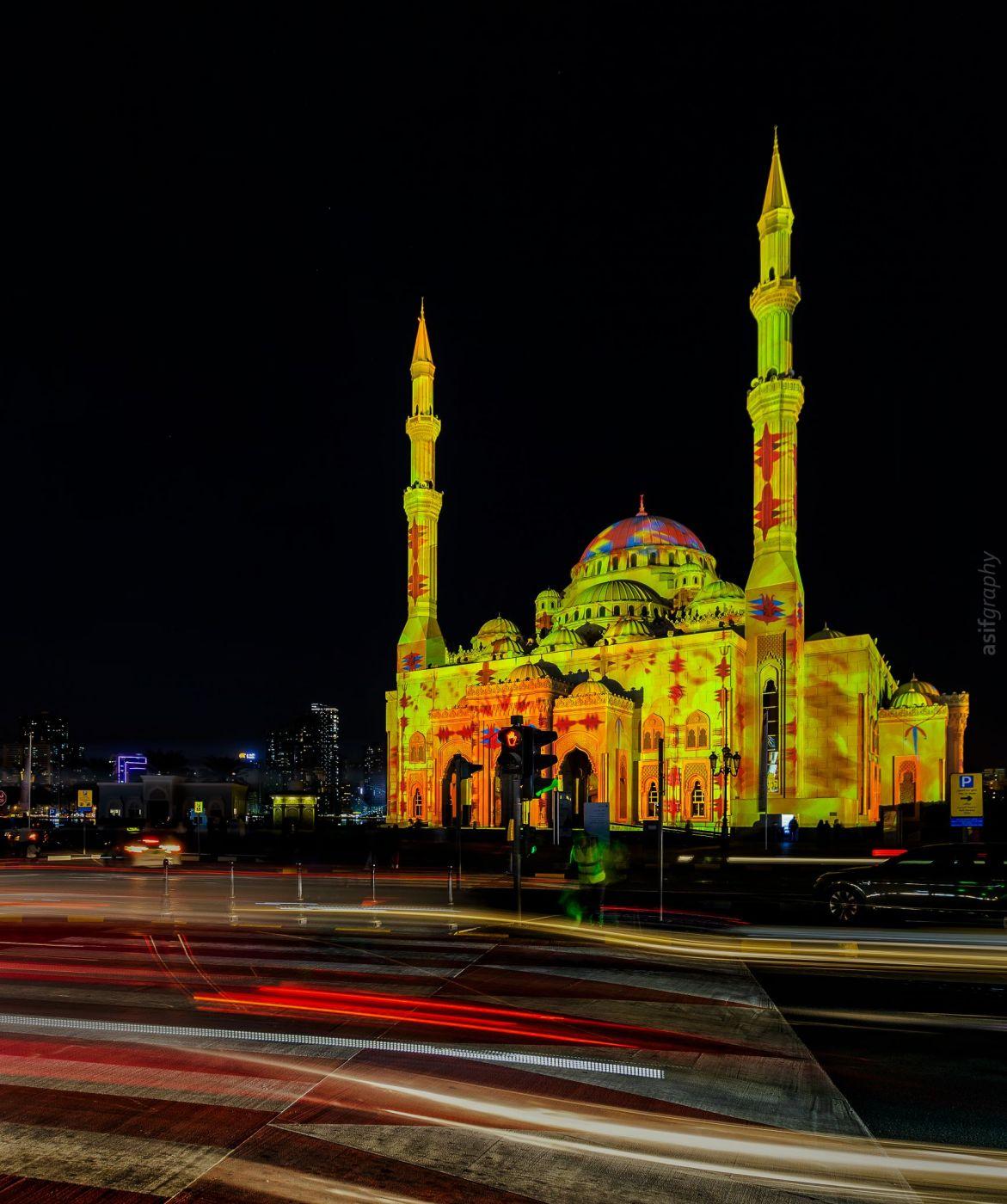 Al Noor Mosque buhaira corniche sharjah, United Arab Emirates