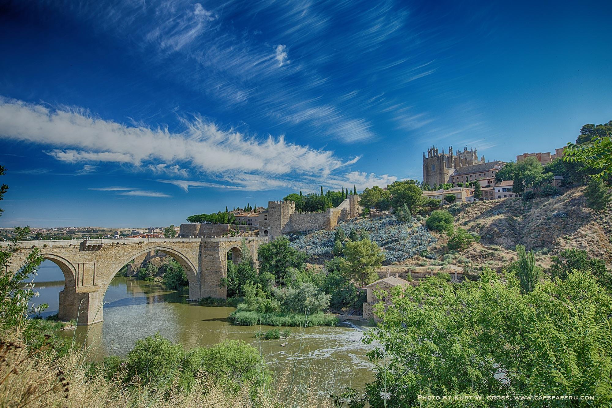Alcantara Bridge, Toledo, Spain, Spain