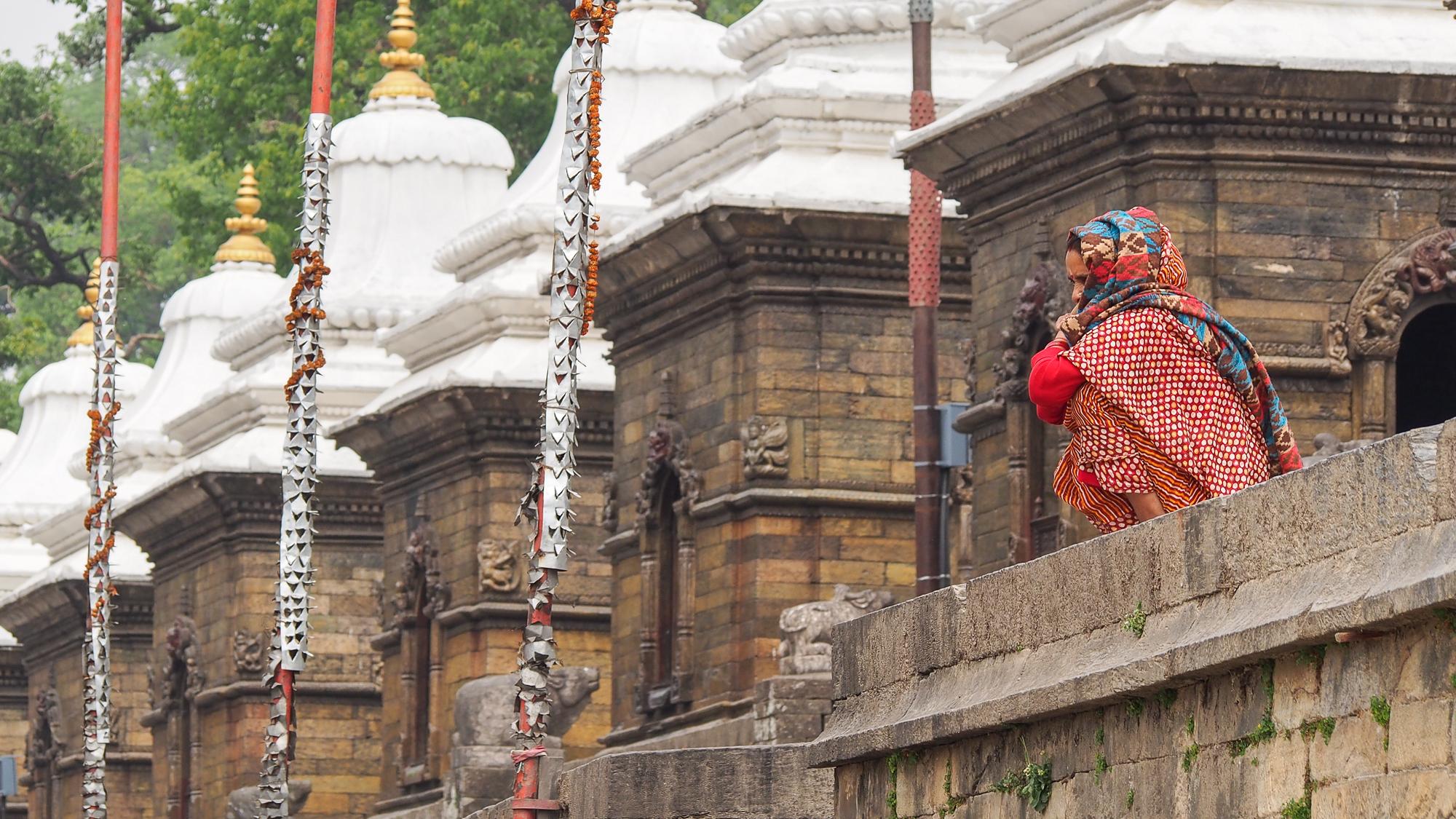 At Pashupatinath temple, Nepal