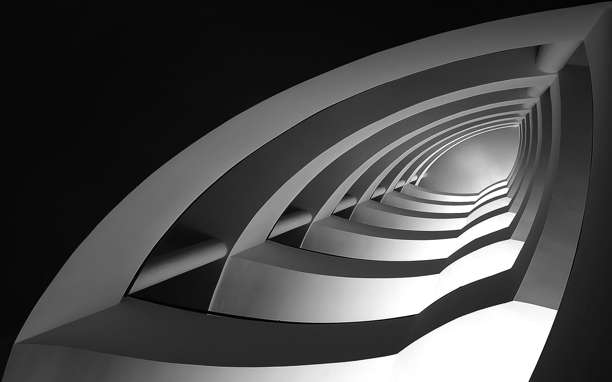 Bauhaus Staircase in Budapest, Hungary