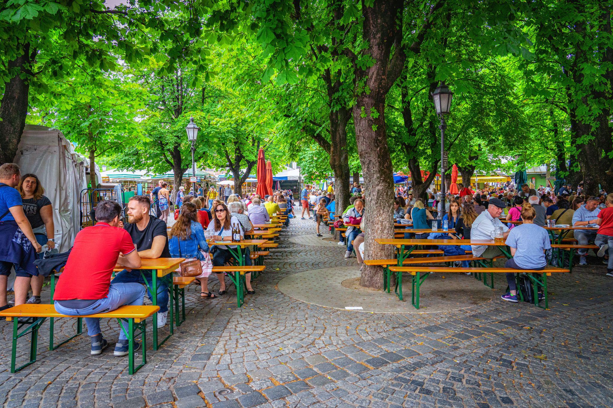 Beer Garden at Viktualienmarkt, Germany