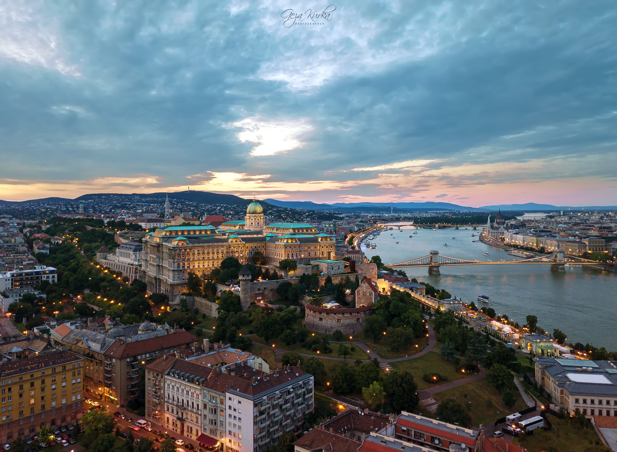 Buda Castle from Gellert Hill, Hungary