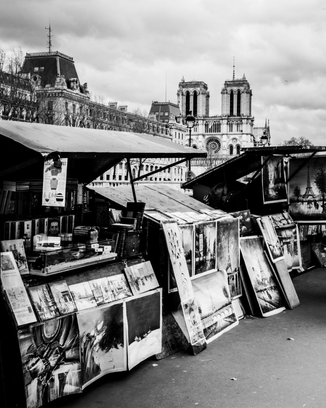 Cathedral and bookstands, France