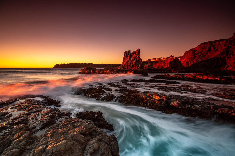 Cathedral Rocks Bombo New South Wales, Australia