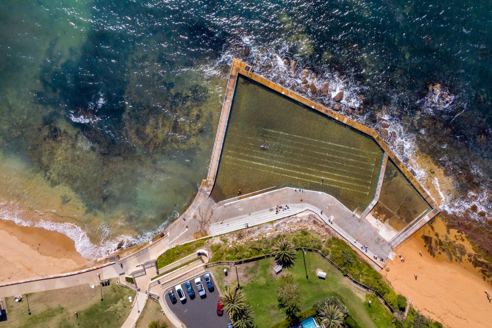 Collaroy Pool Drone shot New South Wales, Australia
