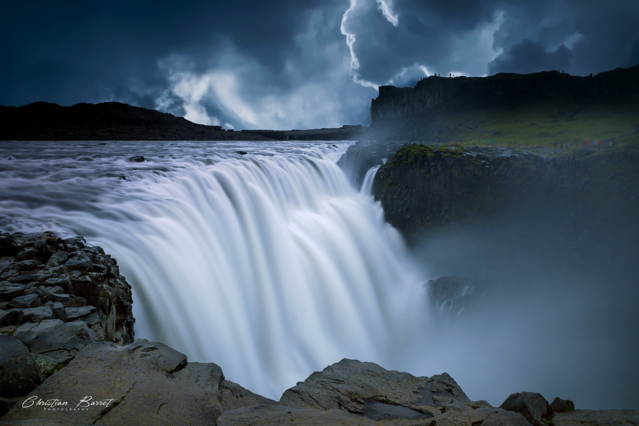 Dettifoss, from the East side, Iceland