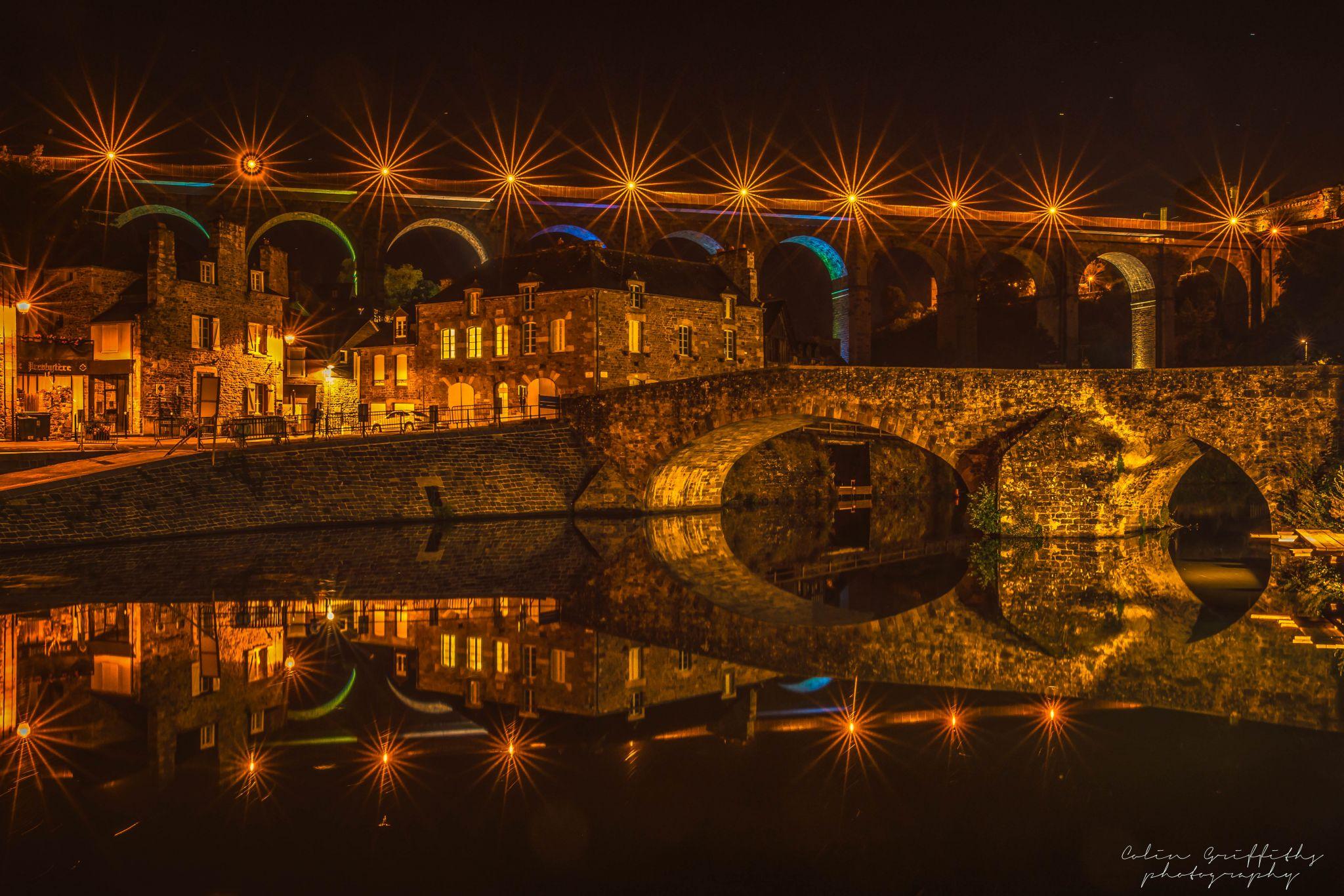 Dinan old bridge, France