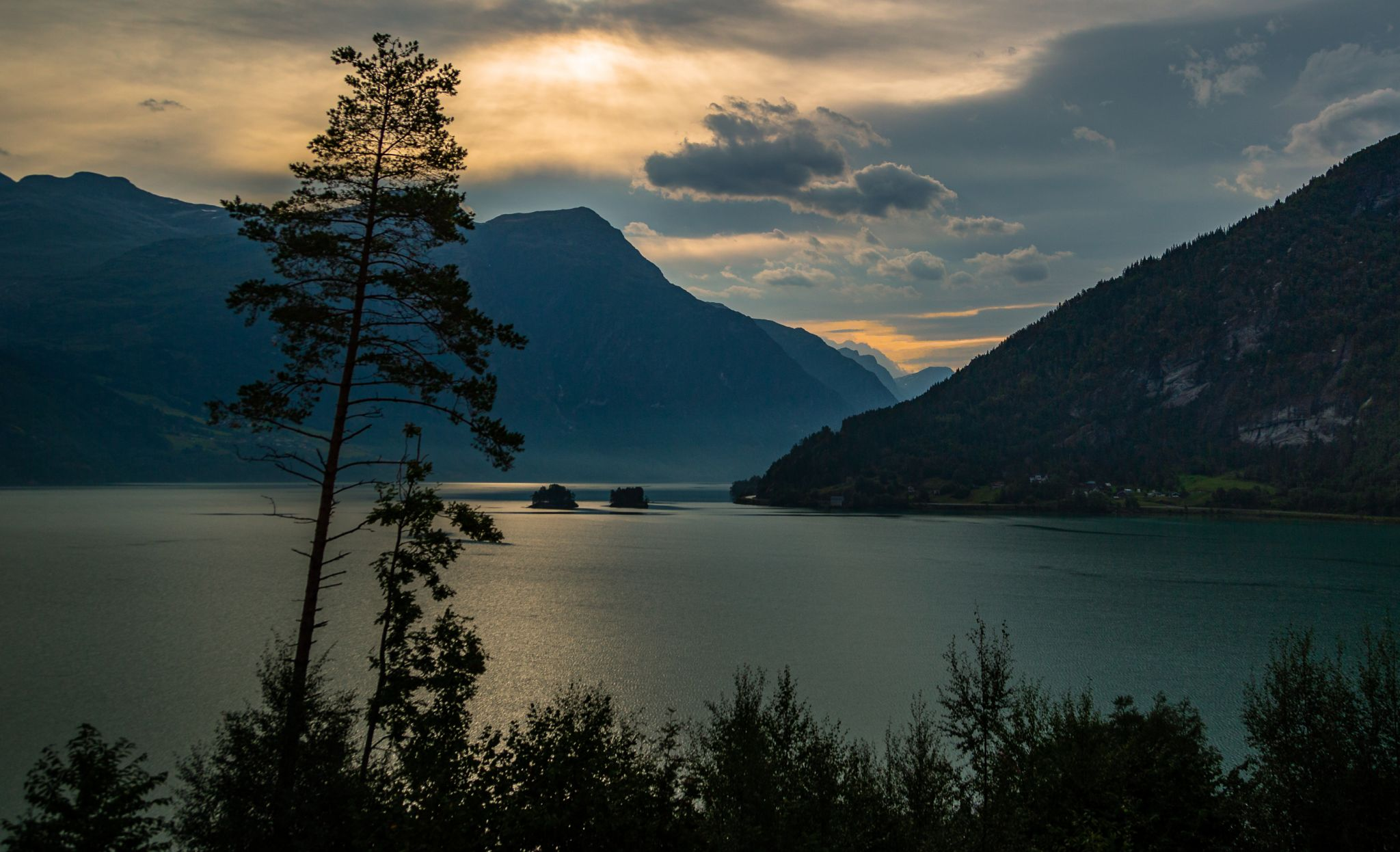 Dusk at the Lake of Stryn, Norway