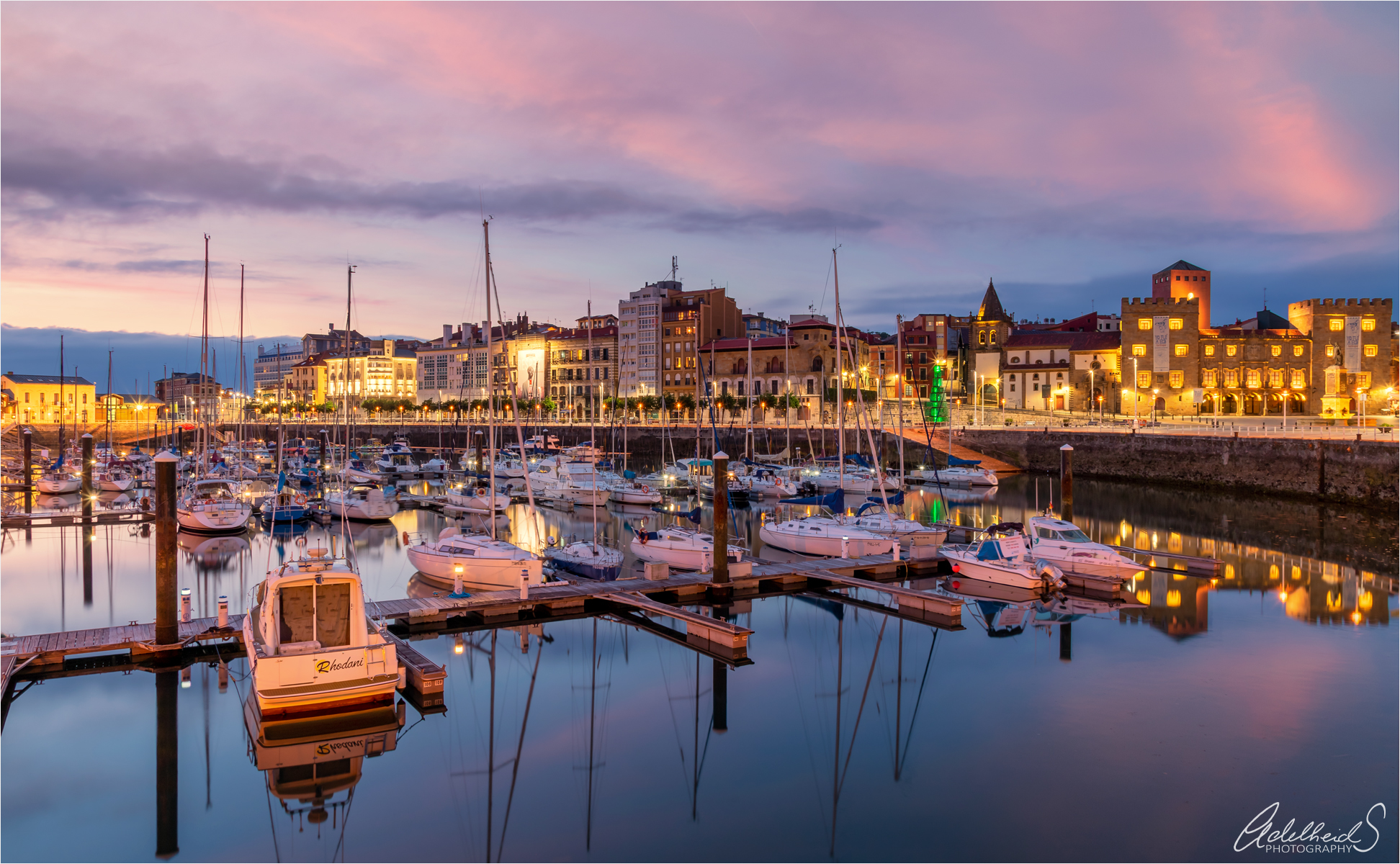 Gijon boat harbour, Spain