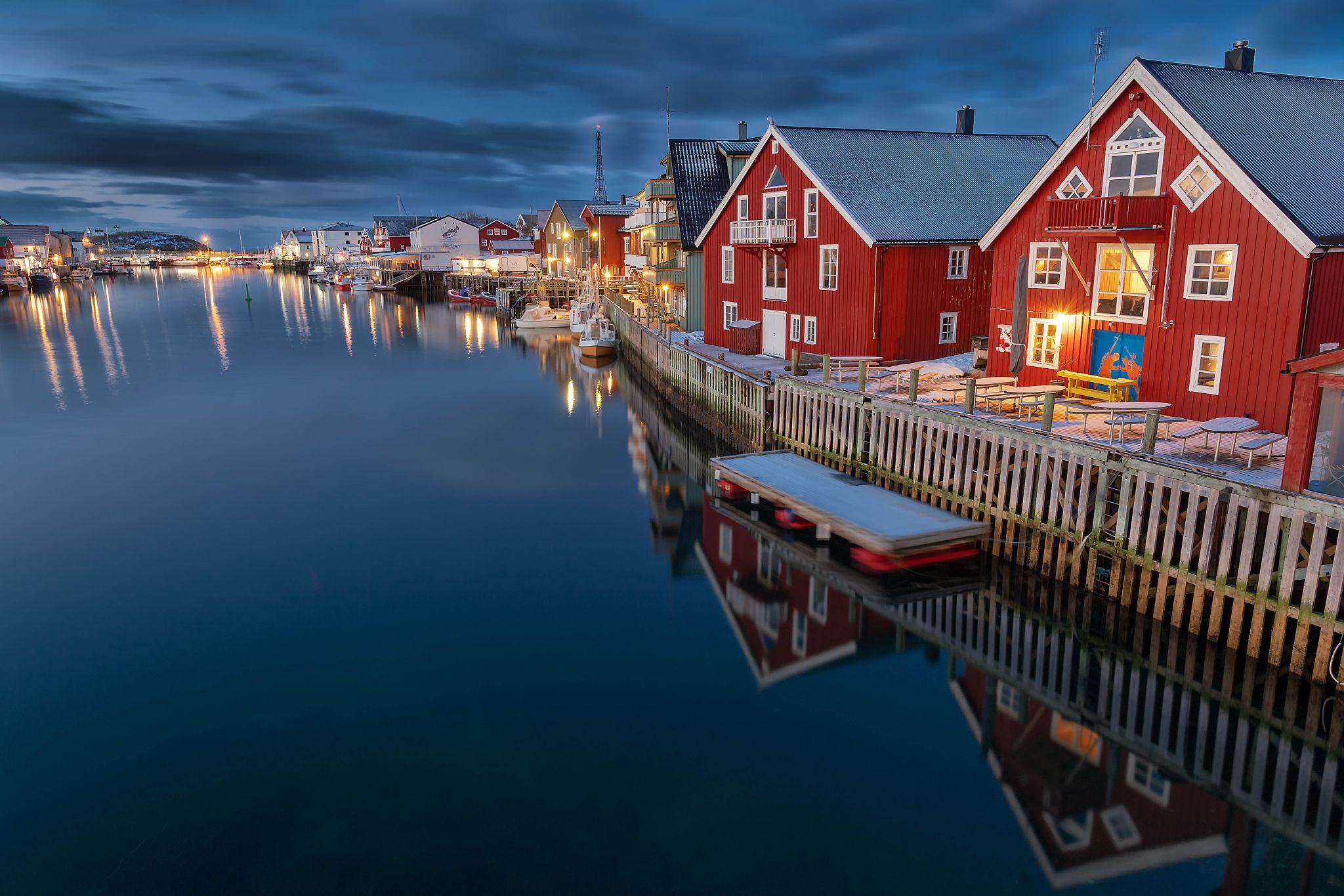 Henningsvaer after the storm, Norway