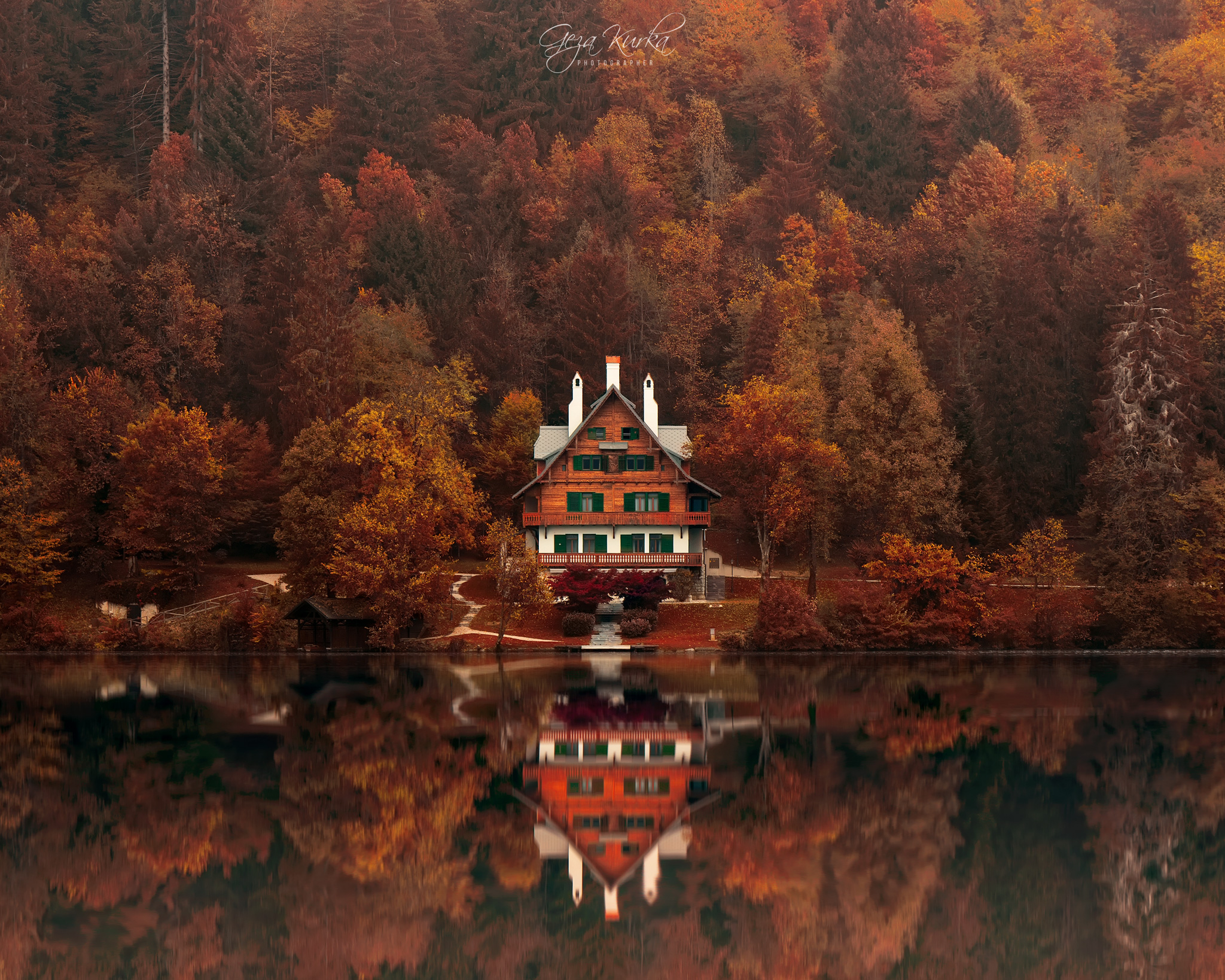 House at the lake, Slovenia